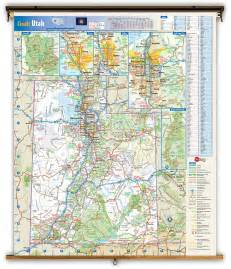 State Of Utah Map by Utah State Reference Wall Map From Geonova