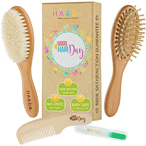 Nature Baby Manicure Set Termurah 4 baby wooden hair brush and comb set free nail file babies grooming kit soft