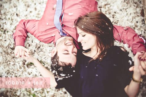 Feather Pillow Fight by Inspiration Engagement Pictures Inspiration Project