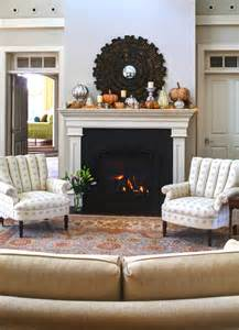 autumn fireplace mantel inspirations country