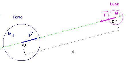 diagramme objets interactions pour la lune interactions fondamentales cours premiere s
