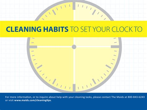 cleaning habits cleaning habits to set your clock to the maids blog