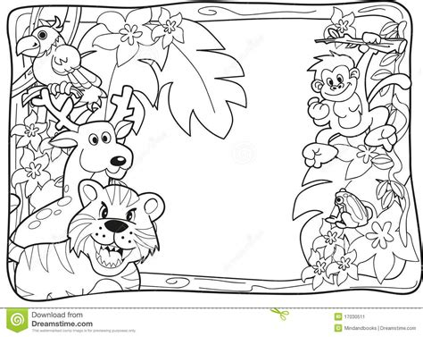 coloring book pages jungle animals baby jungle animals coloring page