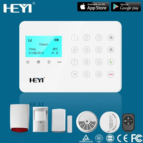 cellular gsm alarm system iphone android app wireless