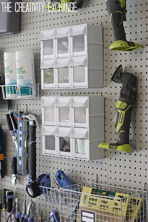 diy pegboard organizing the garage with diy pegboard storage wall