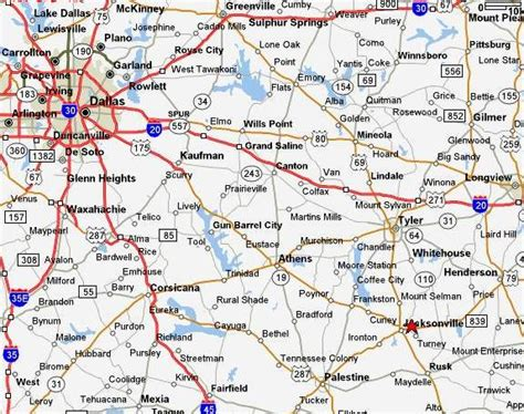 map of jacksonville texas pre ride recon of places to ride or race in texas