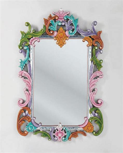 design mirror frame beautiful mirror design with ethnic colorful frame