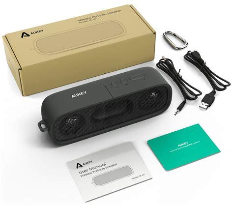 Sepaker Bluetooth Touch Sound L S 66 Dengan Lu Warna Warni aukey wireless premium stereo bluetooth speaker dual 3w driver black lazada indonesia