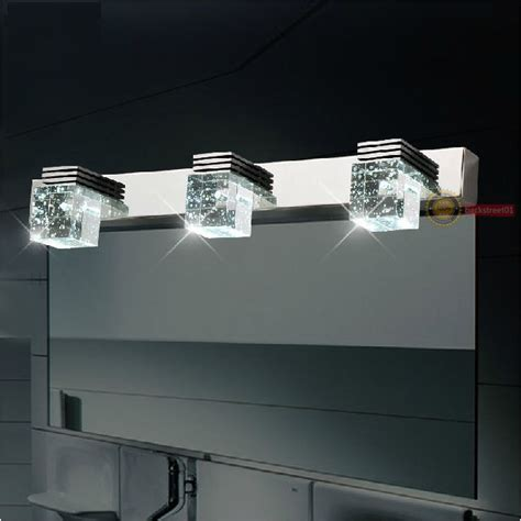 led light mirror bathroom new modern led crystal wall l bathroom lighting mirror