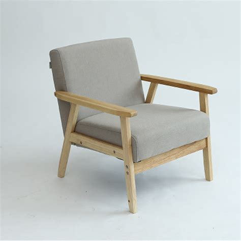sofa arm chair solid wood foam fill in living room chairs