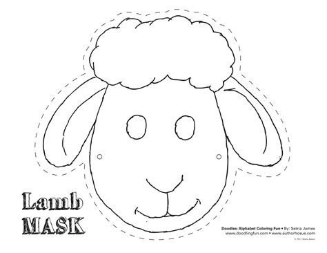 sheep mask mask template and sheep on pinterest