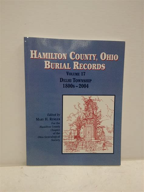 Hamilton County Records Genealogy Hamilton County Ohio Delhi Township Burial Records 1800s 2004 193225031x Ebay