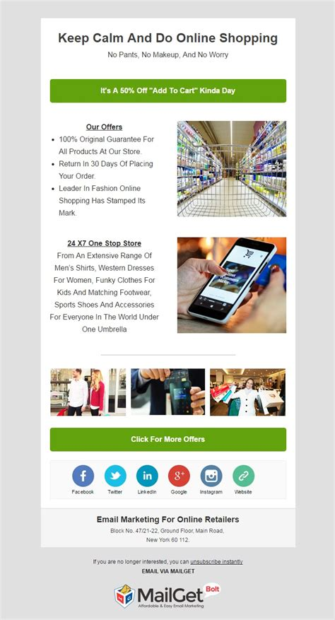 Email Marketing 10 Best E Commerce Email Templates Formget Free Interactive Email Templates