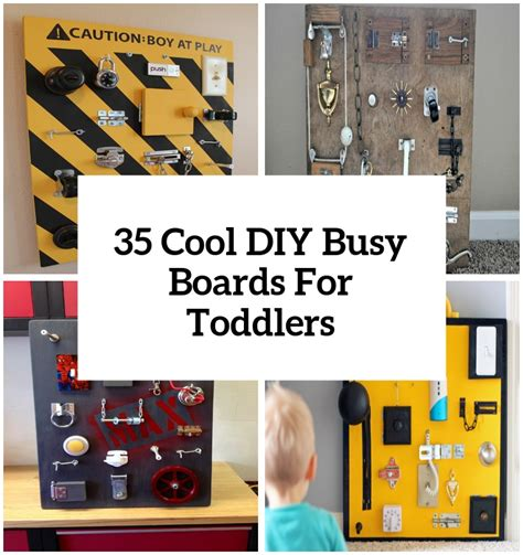 cool  easy diy busy boards  toddlers shelterness