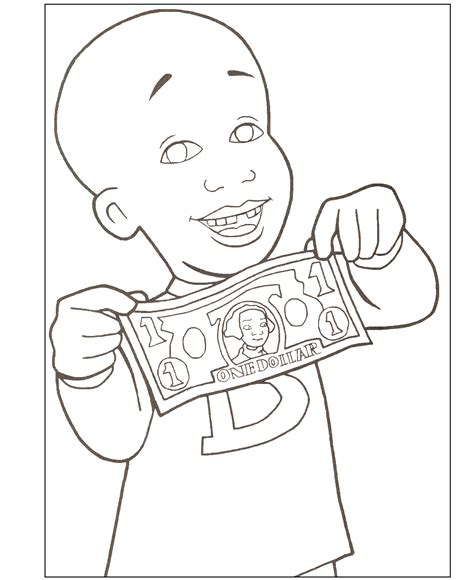 little bill coloring pages coloring home