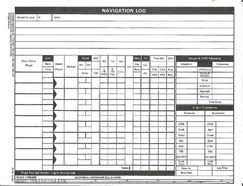 Blank Flight Plan Sheet Flight Log Template