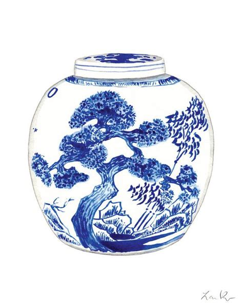 blue and white ginger jar ls blue and white china porcelain ginger jar vase no 9