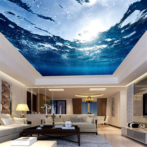 wall murals home aliexpress buy custom any size 3d mural wallpaper underwater world suspended ceiling