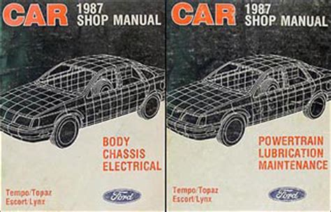 service and repair manuals 1987 mercury lynx parental controls 1987 ford tempo mercury topaz foldout wiring diagram 87