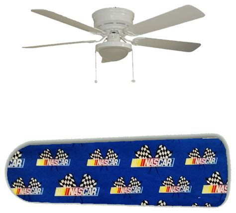 Nascar Ceiling Fan by Nascar Flags On Blue 52 Quot Ceiling Fan And L
