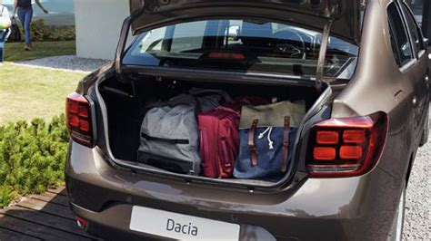 renault logan trunk dacia logan 2017 dimensions boot space and interior