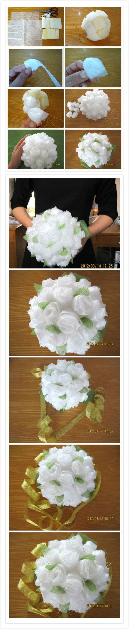 How To Make Tissue Paper Bouquet - how to make baby tissue paper flower bouquet step by step