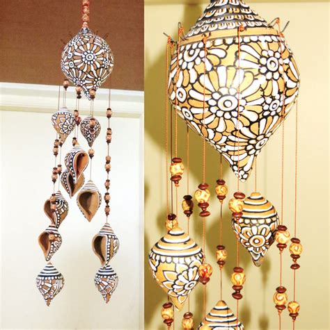 Home Decor Items Shopping In India by Terracotta Shell Hanging Shopping