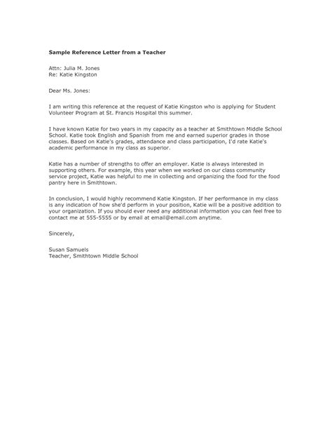 Sample Of Recommendation Letter For A Teacher Cover