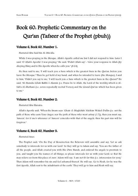 Shahih bukhari english volume # 6