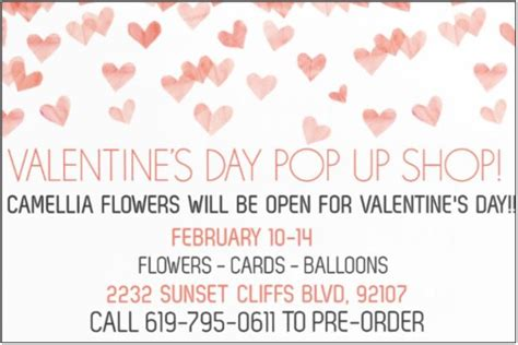 a valentine s day pop up flower shop at gus ruby valentine s day pop up shop at camellia wedding flowers