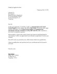 Cover Letter For Vacancy Application by Format Of Application Letters Cover Letter Templates