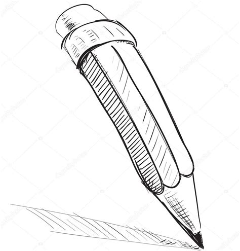 sketchbook vector pencil sketch vector illustration stock vector