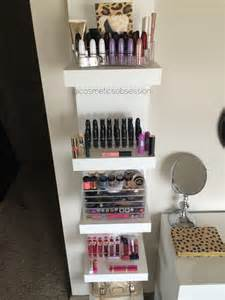 Ikea Makeup Vanity Organizer Makeup Storage And Organization Ikea Lack Shelf Unit