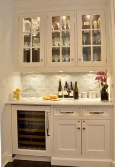 beverage center would have cabinets for glasses liquor