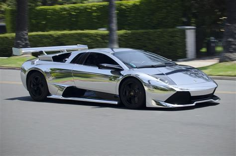 Lamborghini murcielago Wrap Vinyl chrome wallpaper