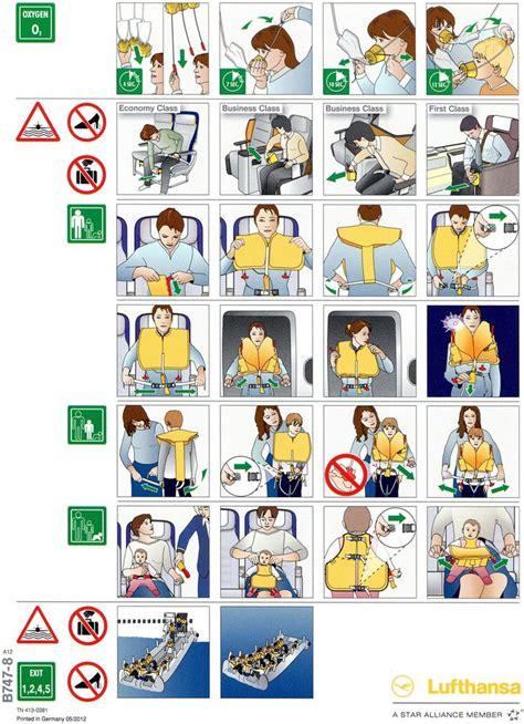 Collection Of Airline Safety Cards by 17 Best Images About Safety Mood On