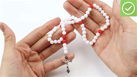 a rosary 4 ways to make a rosary wikihow