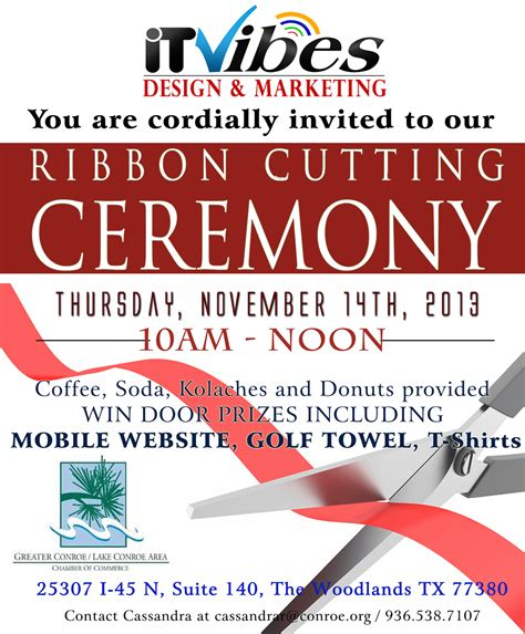 10 best images of ribbon cutting template brochure grand