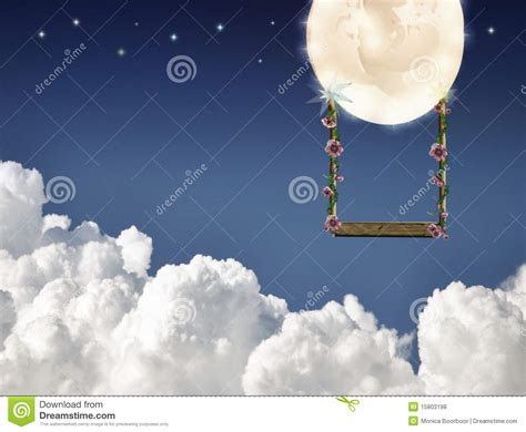 swinging on the moon swinging on the moon royalty free stock photos image