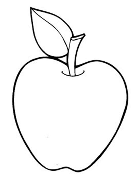 Coloring Page Of An Apple by Apples Coloring Pages