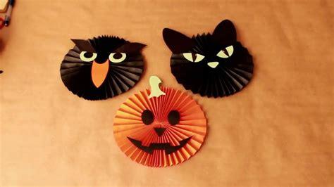 imagenes de halloween para hacer diy como hacer rosetas de papel para halloween youtube