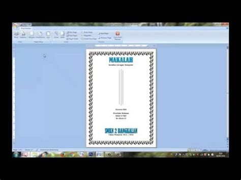 cara membuat cover proposal dengan microsoft word cover 2007 videolike