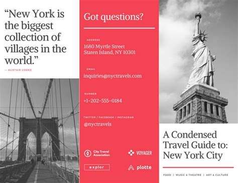 brochure templates new york customize 89 travel brochure templates online canva