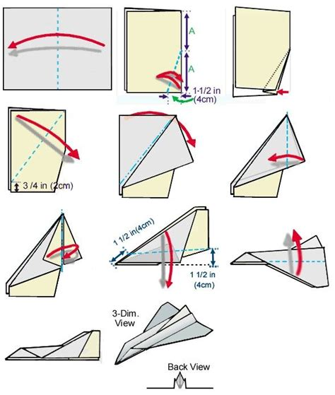 Directions For A Paper Airplane - space shuttle paper airplane steps page 2 pics about
