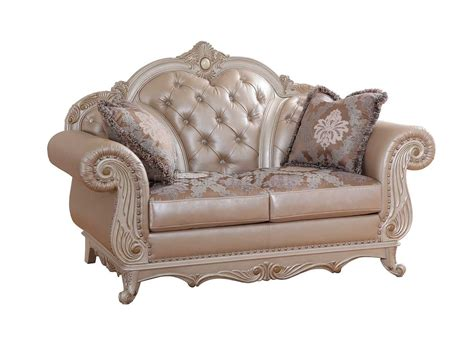 pearl leather sofa marquee sofa 652 in pearl bonded leather w optional items