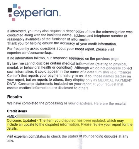 Dispute Letter Experian update credit score recovery after disputes with all 3