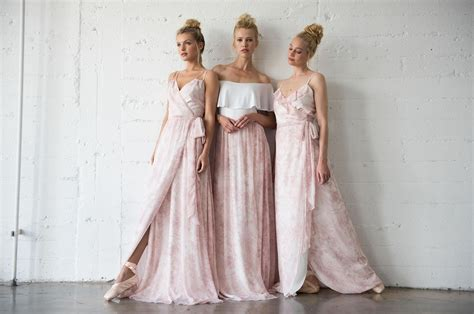 Dress Joanna pretty in pink blush ballet inspired bridesmaids dresses