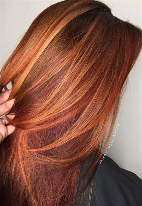 hairstyles copper highlights 17 best ideas about crimson hair on pinterest red