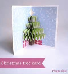 tree card tree pop up card twiggynest