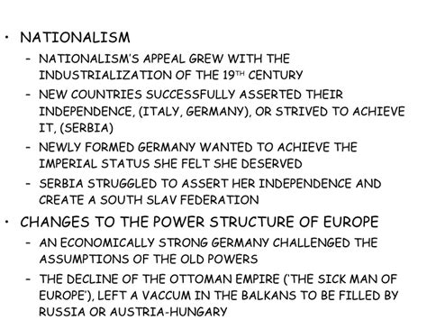 Nationalism World War 1 Essay by Causes Of World War 1